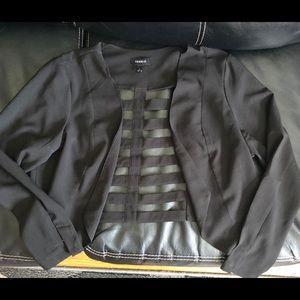 Torrid mini open back jacket